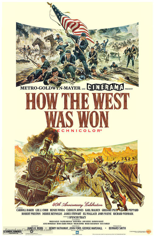 How the West Was Won - Movie Poster