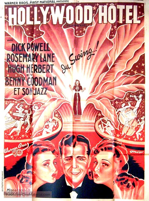 Hollywood Hotel - French Movie Poster