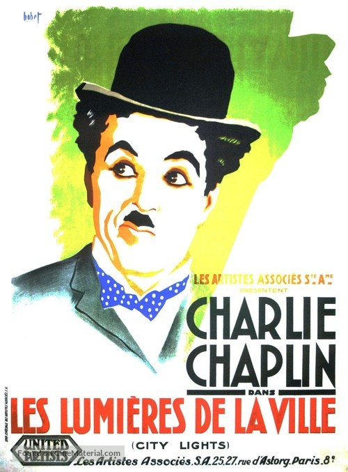City Lights - French Movie Poster