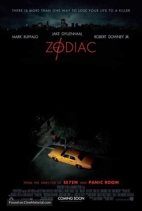 Zodiac - British Theatrical movie poster
