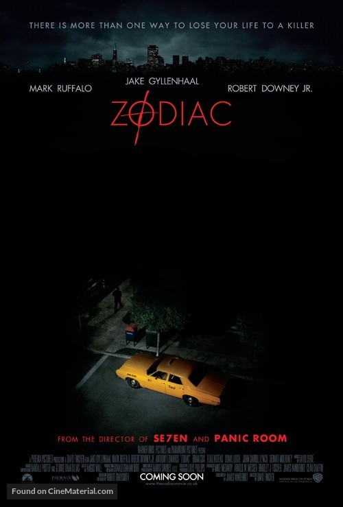 Zodiac - British Theatrical poster