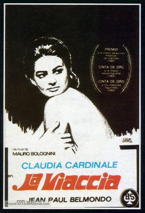 La viaccia - Spanish Movie Poster