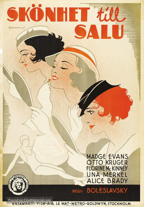 Beauty for Sale - Swedish Movie Poster