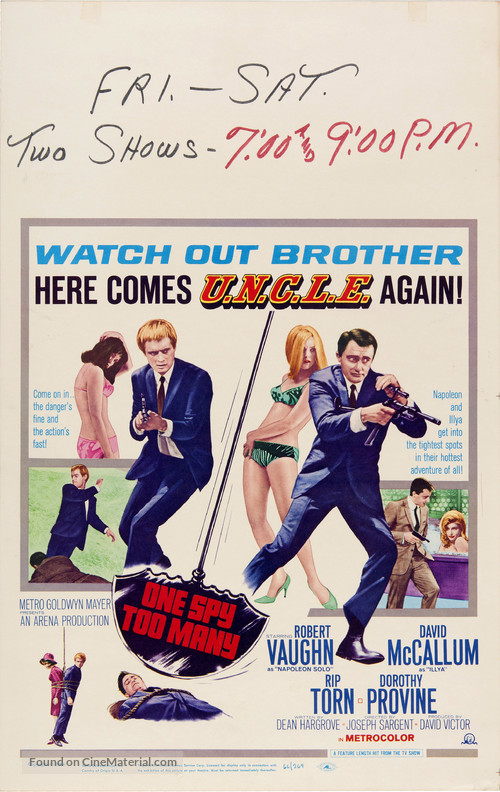 One Spy Too Many - Movie Poster