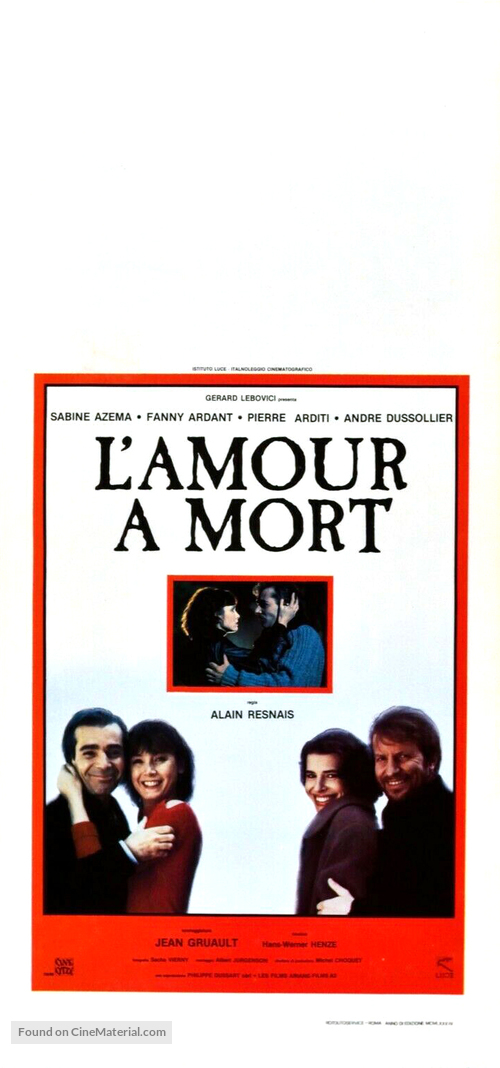 Amour à mort, L' - Italian Movie Poster