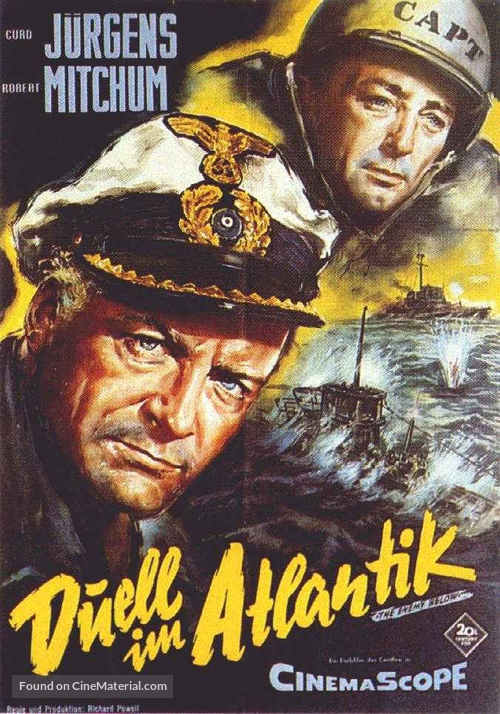 The Enemy Below - German Movie Poster