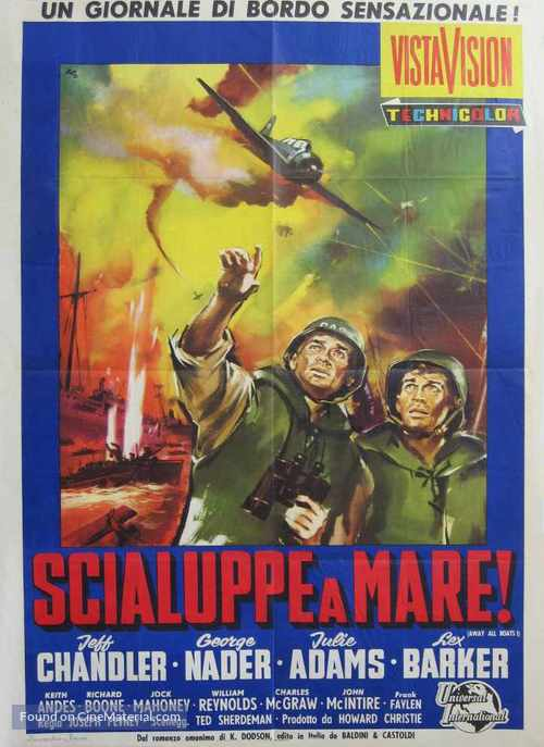 Away All Boats - Italian Movie Poster
