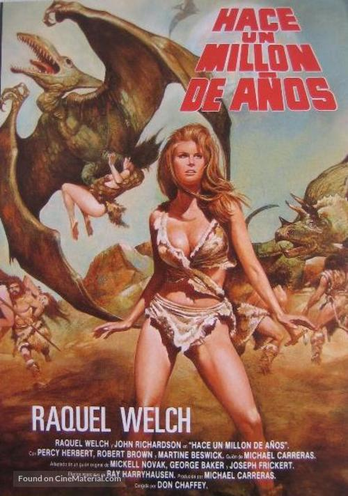 One Million Years B.C. - Spanish Movie Poster