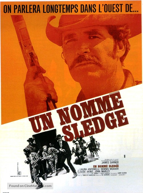 A Man Called Sledge - French Movie Poster