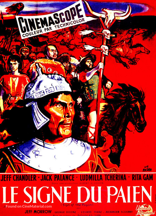 Sign of the Pagan - French Movie Poster