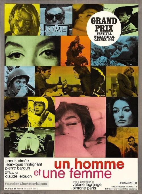 Un homme et une femme - French Re-release poster