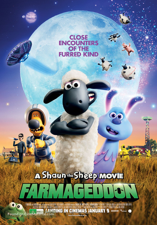 A Shaun the Sheep Movie: Farmageddon - Australian Movie Poster