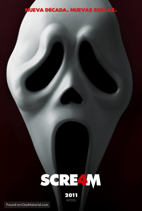 Scream 4 - Mexican Movie Poster