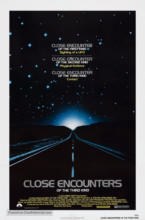 Close Encounters of the Third Kind - Theatrical movie poster