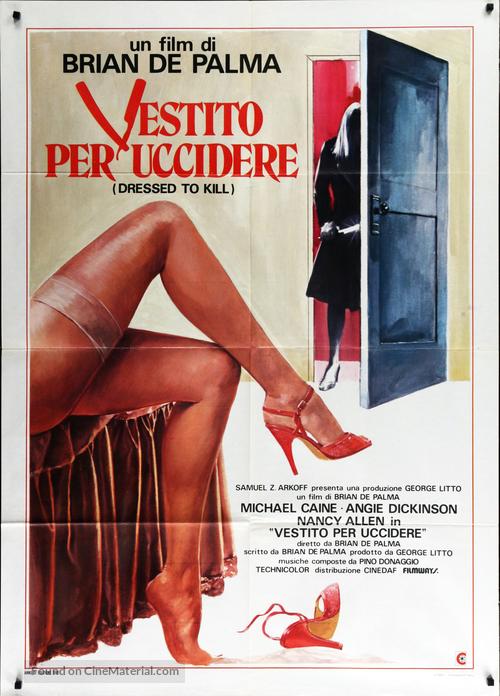 Dressed to Kill - Italian Movie Poster