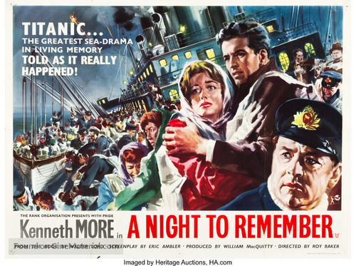 A Night to Remember - British Movie Poster