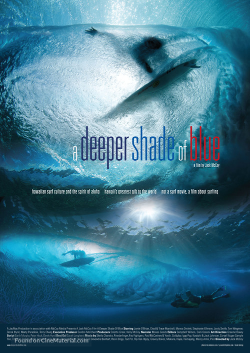 A Deeper Shade of Blue - Australian Movie Poster