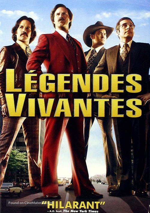 anchorman 2 the legend continues french dvd cover