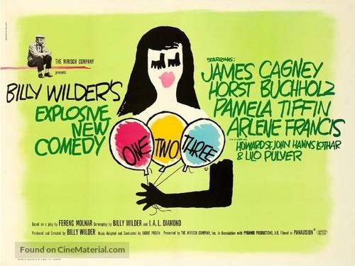 One, Two, Three - British Movie Poster