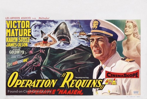 The Sharkfighters - Belgian Movie Poster