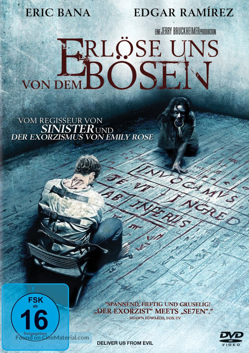 Deliver Us from Evil - German DVD movie cover