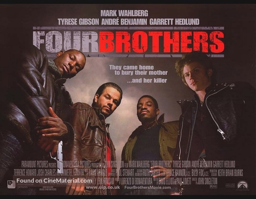 Four Brothers - British Movie Poster
