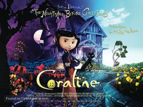 Coraline - British Movie Poster