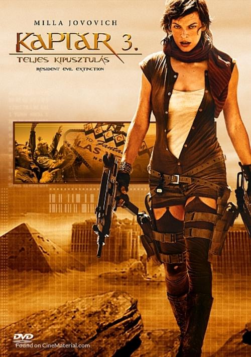 Resident Evil: Extinction - Hungarian Movie Cover