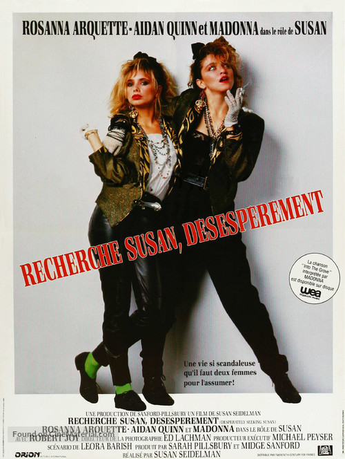 Desperately Seeking Susan - French Movie Poster
