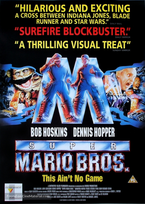 Super Mario Bros 1993 British Movie Poster