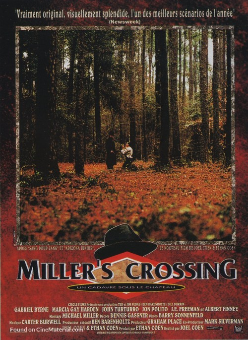Miller's Crossing - French Movie Poster