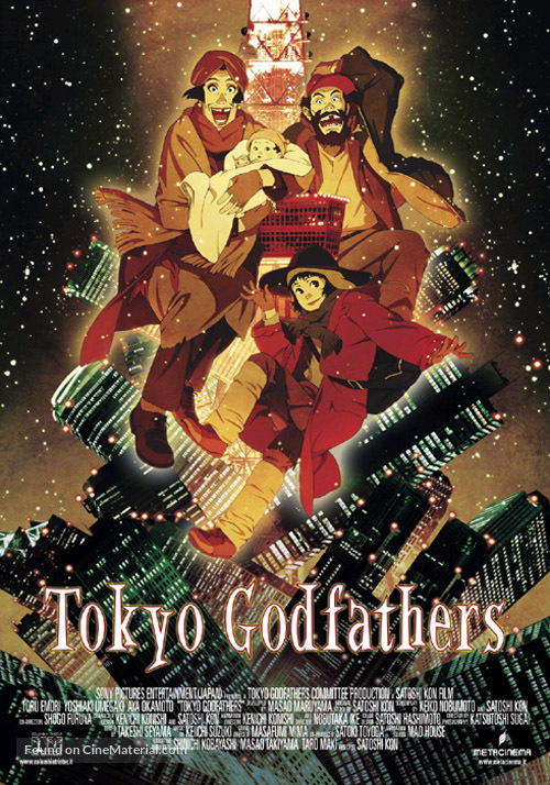 Tokyo Godfathers - Italian Theatrical poster