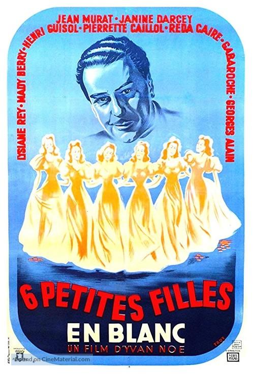 Six petites filles en blanc - French Movie Poster