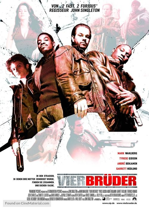 Four Brothers - German Movie Poster