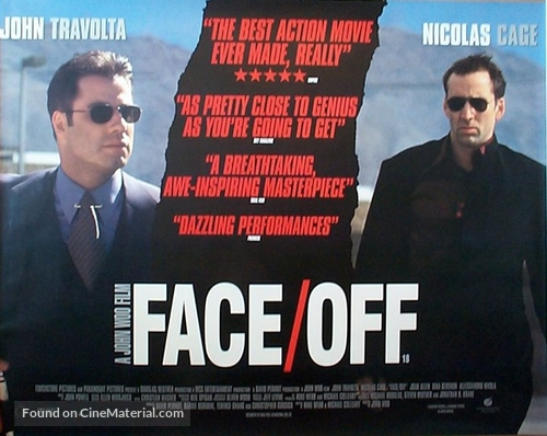 Face/Off - British Movie Poster