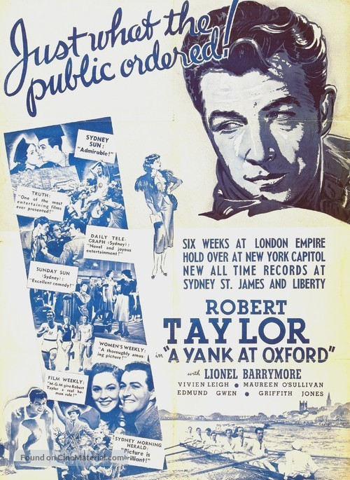 A Yank at Oxford - Movie Poster