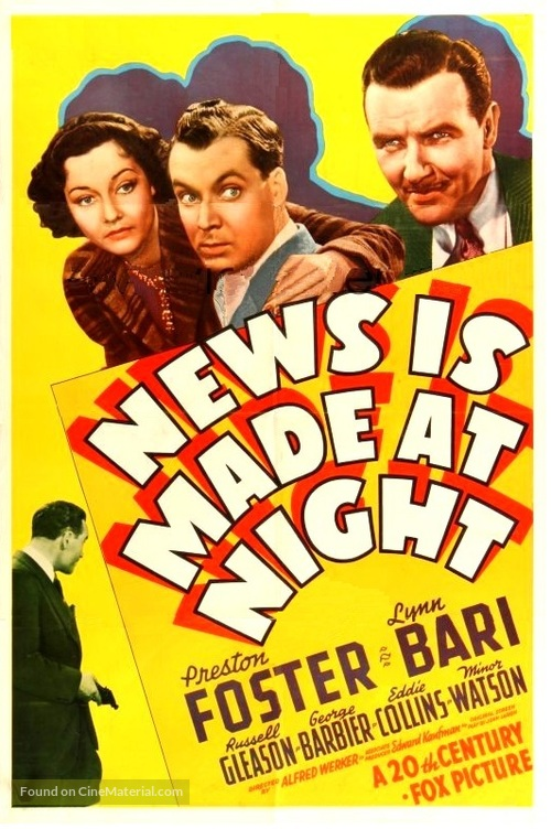 News Is Made at Night - Movie Poster