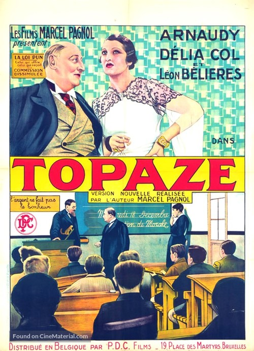 Topaze - Belgian Movie Poster