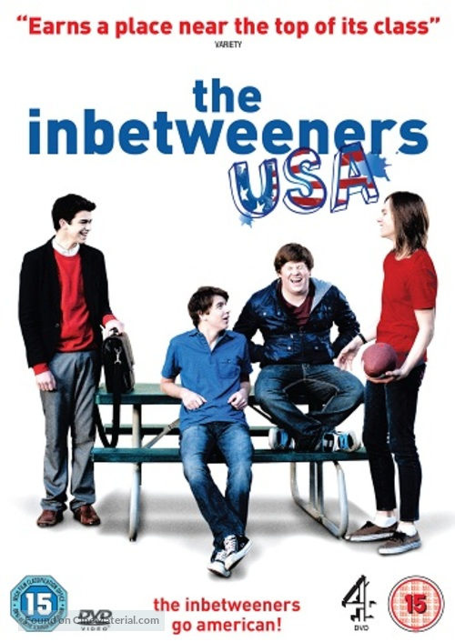 """The Inbetweeners"" - British DVD movie cover"
