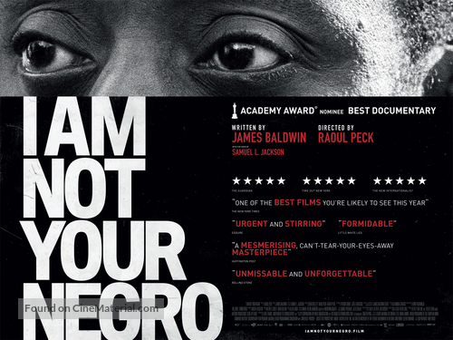 I Am Not Your Negro - British Movie Poster