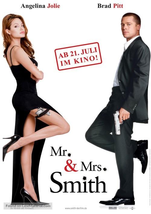 Mr. & Mrs. Smith - German Movie Poster
