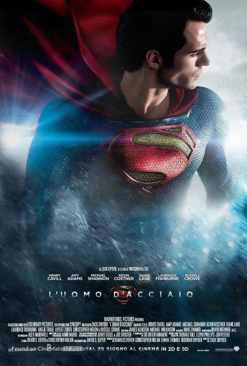 Man of Steel - Italian Movie Poster