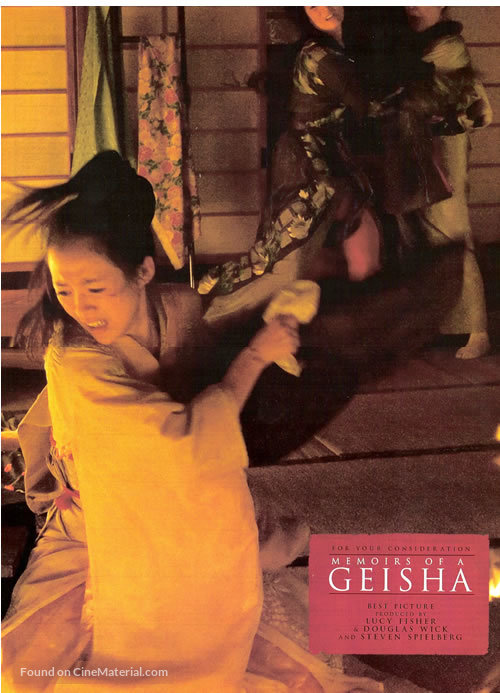 Memoirs of a Geisha - For your consideration movie poster