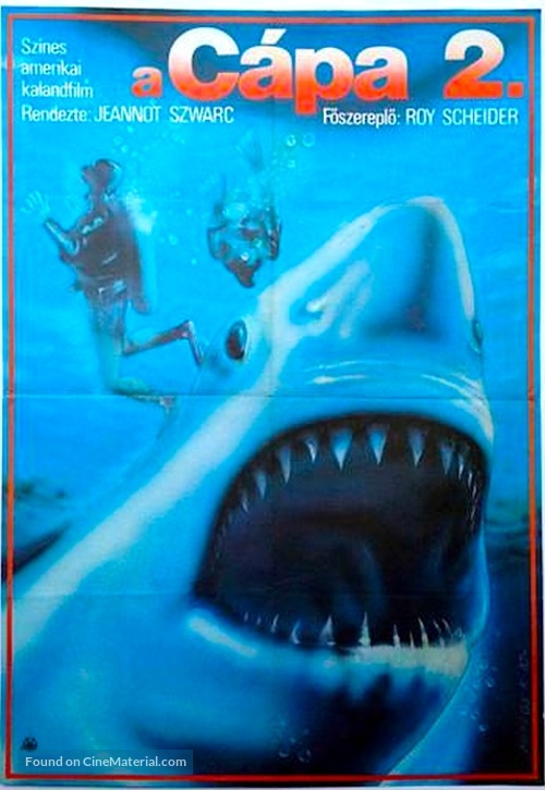 Jaws 2 1978 Hungarian Movie Cover
