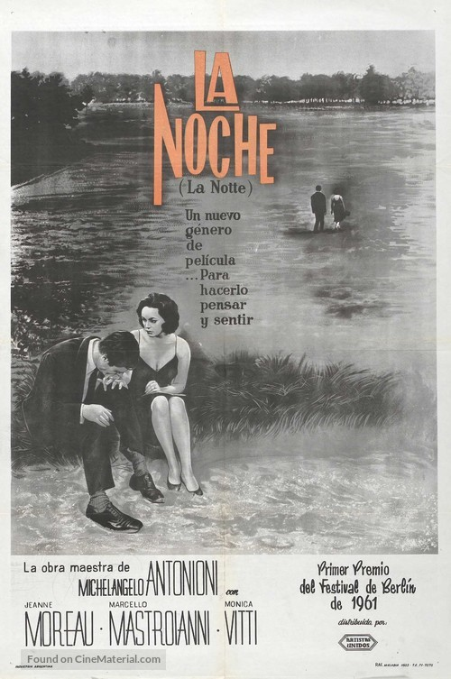 La notte - Argentinian Movie Poster