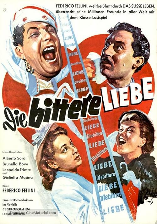 Lo sceicco bianco - German Movie Poster