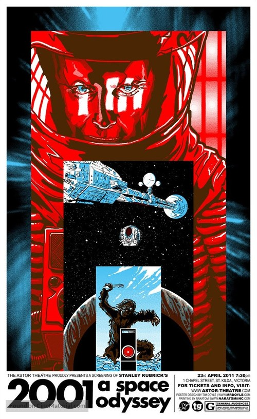 2001: A Space Odyssey - Australian Homage movie poster