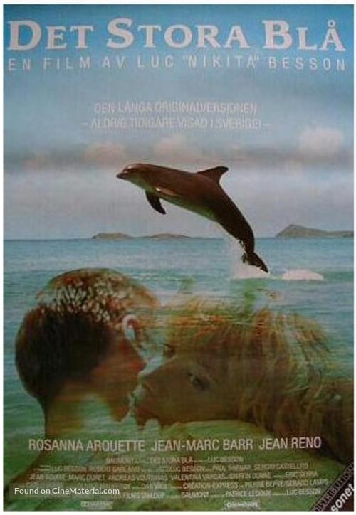 Le grand bleu - Swedish Movie Poster
