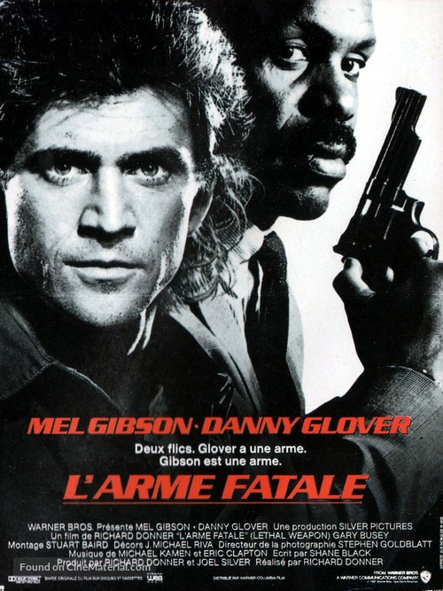 Lethal Weapon - French Movie Poster