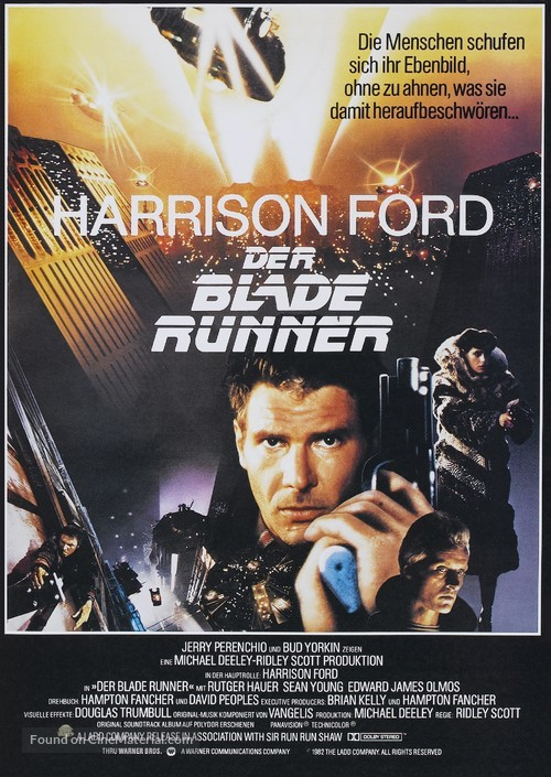 Blade Runner - German Movie Poster